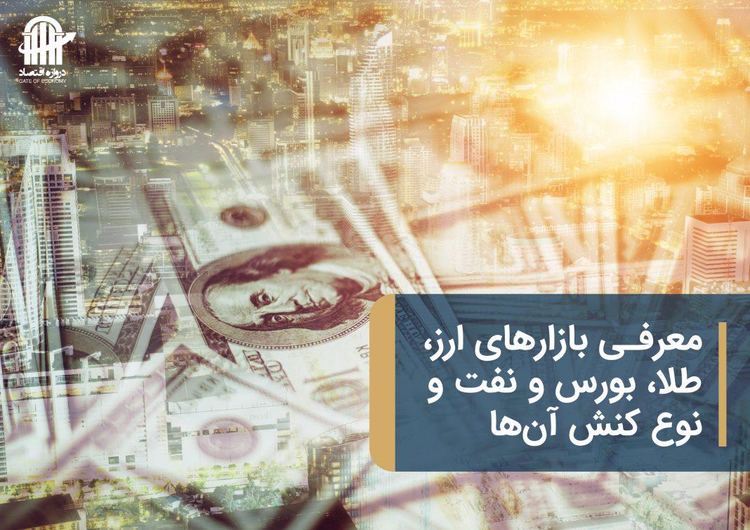 معرفی بازارهای جهانی ارز، طلا، بورس و نفت و نوع کنش آنها